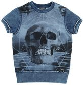 Diesel Skull Short Sleeve Cotton Sweatshirt