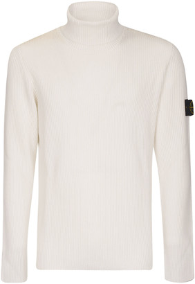Stone Island Turtleneck Woven Logo Patched Sweater