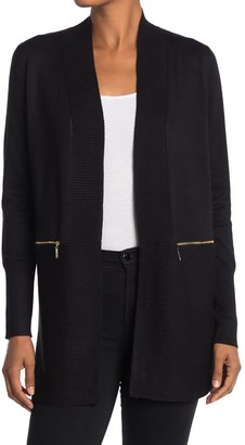 M Magaschoni Open Front Long Cardigan