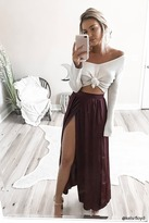 LOVE21 LOVE 21 Contemporary Satin Maxi Skirt