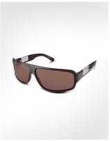 Signature Plate Plastic Rectangular Sunglasses