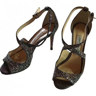 Jimmy Choo Lance Silver Glitter Sandals