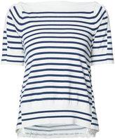 Sacai alternative stripe top - women - Cotton/Polyester/Rayon/Cashmere - 1