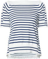 Sacai alternative stripe top - women - Cotton/Polyester/Rayon/Cashmere - 3