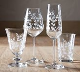 Pottery Barn Etched Tumbler Glass, Set of 4