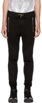 Balmain Black Quilted Lounge Pants
