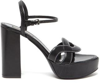 Fabrizio Viti - Forever Crossover Leather Platform Sandals - Black
