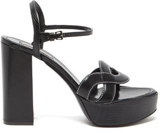 Fabrizio Viti - Forever Crossover Leather Platform Sandals - Womens - Black