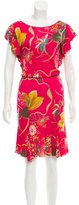 Blumarine Printed Midi Dress
