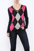 Conrad C Charcoal Argyle Sweater
