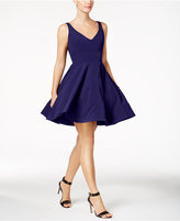 Xscape Evenings V-Neck Fit and Flare Party Dress