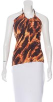 Just Cavalli Abstract Print Halter Top