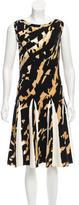 Blumarine Ruffle-Trimmed Patterned Knit Dress