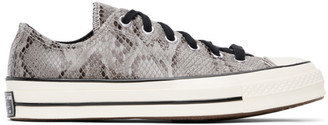 Converse Grey Snake Chuck 70 Ox Low Sneakers