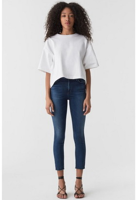 Singer22 Sophie High Rise Crop Skinny Jean With Raw Hem