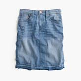 J.Crew Petite frayed denim pencil skirt