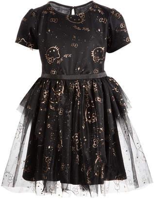 Hello Kitty Toddler Girls Printed Mesh Dress