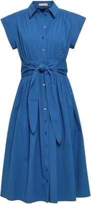 Michael Kors Cotton-blend Midi Shirt Dress