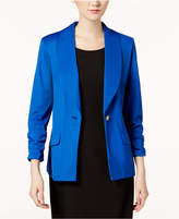 Kasper Single-Button Shawl-Collar Blazer