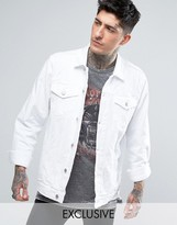 Reclaimed Vintage Inspired Oversized Denim Jacket In White