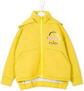 Fendi detachable hood zipped sweatshirt