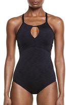Nike Swim One-Piece Heather High Neck Swimsuit