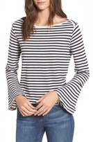 Splendid Women's Stripe Bell Sleeve Top
