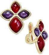 Charter Club Gold-Tone Multi-Stone Clip-On Earrings, Only at Macy's