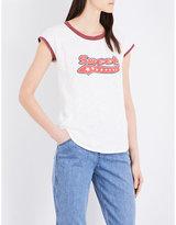 Claudie Pierlot Sweet cotton-jersey T-shirt