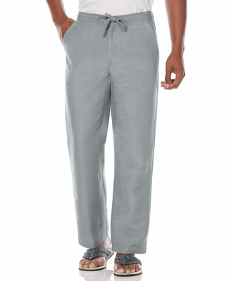 "Cubavera 30"" Inseam Double Pocket Drawstring Linen Pant"