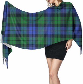 Yjwlo Campbell Tartan 2 Soft Cashmere Shawl Wrap Scarves Long Scarves For Women Office Party Travel 68X196 cm
