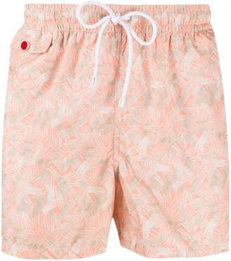 Kiton All-Over Print Swim Shorts