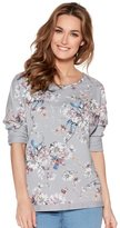M&Co Floral print sweater top