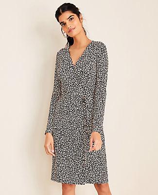 Ann Taylor Petite Cheetah Print Wrap Dress