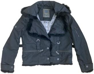 Christian Dior Black Fur Leather Jacket for Women Vintage