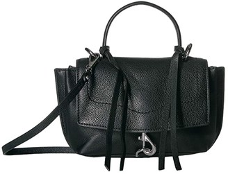 Rebecca Minkoff Stella Mini Satchel Crossbody (Black) Handbags