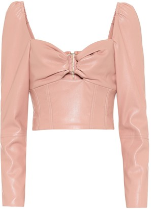 Jonathan Simkhai Faux-leather bustier top