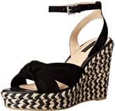 Frye Women's Charlotte Twist Ankle Espadrille Wedge Sandal