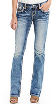 Miss Me Embellished-Pocket Stretch Bootcut Jeans