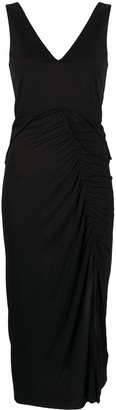 Helmut Lang Asymmetric Ruched Dress