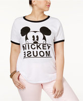 Mighty Fine Trendy Plus Size Cotton Mickey Mouse Graphic T-Shirt