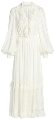 Etro Pamela Silk Peasant Midi Dress