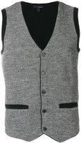 Lardini welt pockets knitted waistcoat
