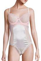 Mimi Holliday Sugared Almond Silk Blend Underwired Bodysuit