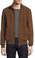 Ermenegildo Zegna Leather Bomber Jacket with Hood