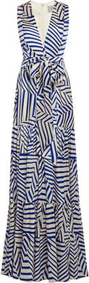 Silvia Tcherassi Polly Printed Stretch-Silk Maxi Dress