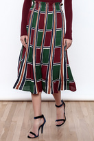 Lucy Paris Printed Midi Skirt