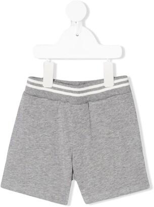 Moncler Enfant Striped Waist Double Pocket Track Shorts