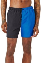 Topman Men's Spliced Swim Trunks