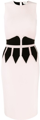 Alexander McQueen Two-Tone Fitted Dress